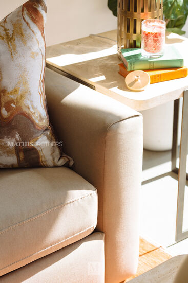 Rectangular End Table in Sand