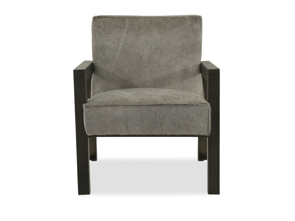 """Fluted Leg Contemporary 29"""" Accent Chair in Gray"""