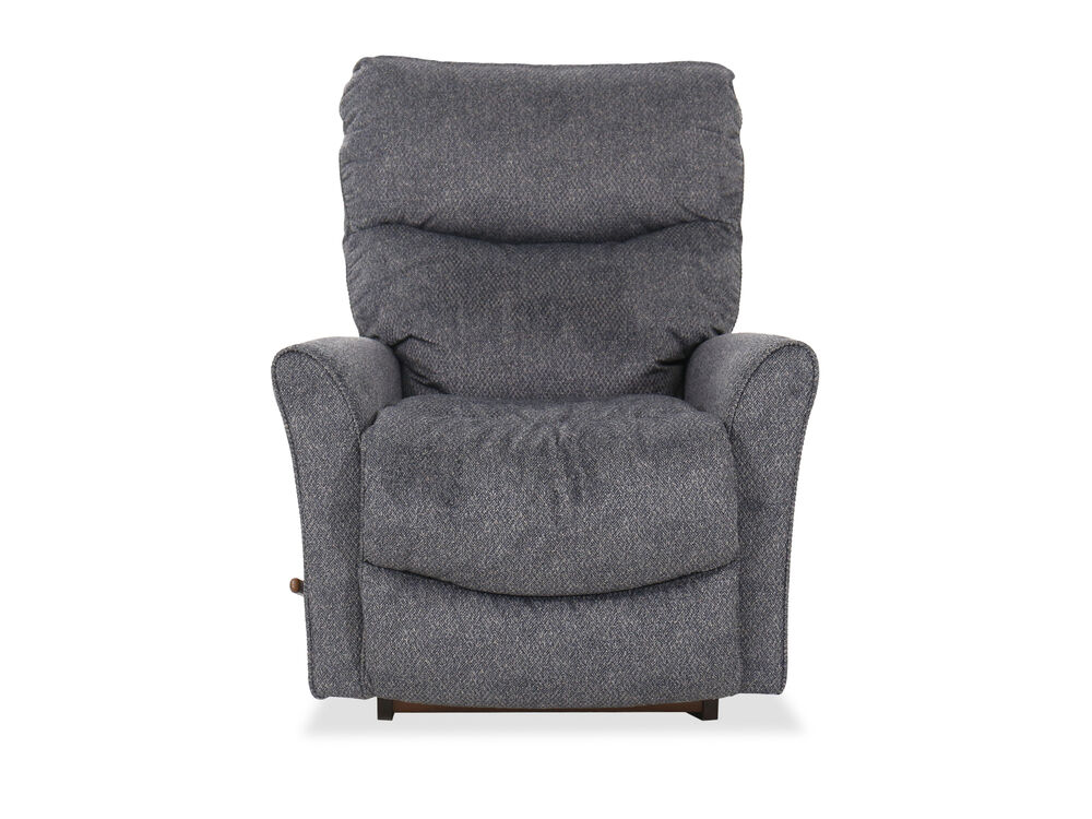 "34"" Casual Flared Arm Rocking Recliner in Gray"