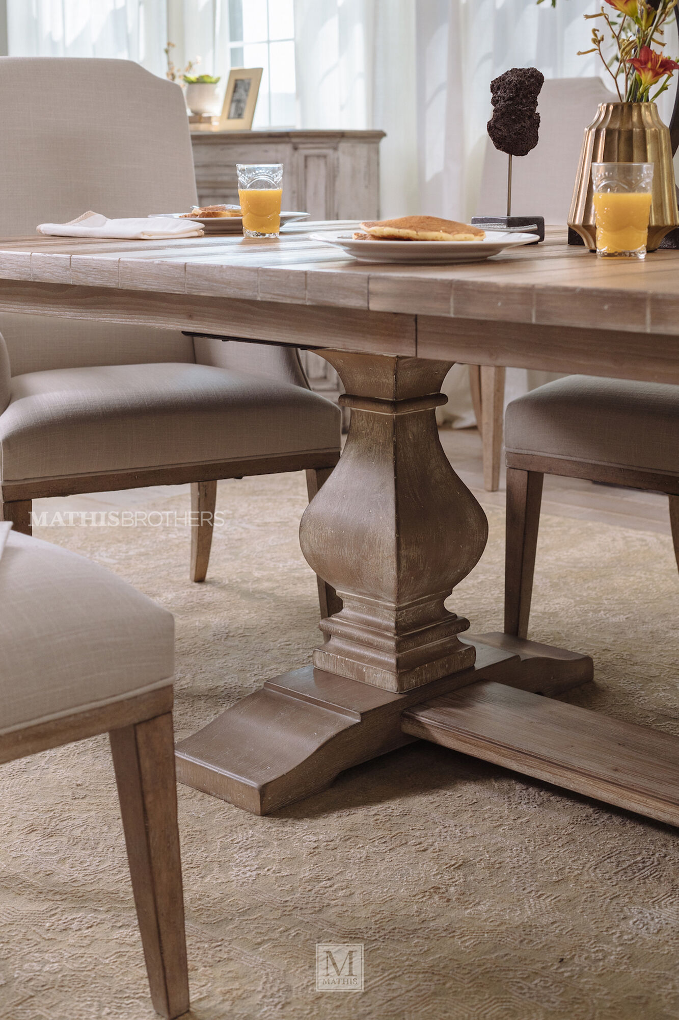 84 To 120 Rectangular Trestle Dining Table In Cypress