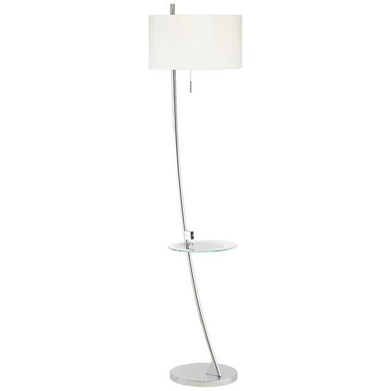 Trezzio Lamp with Glass Tray & USB Port