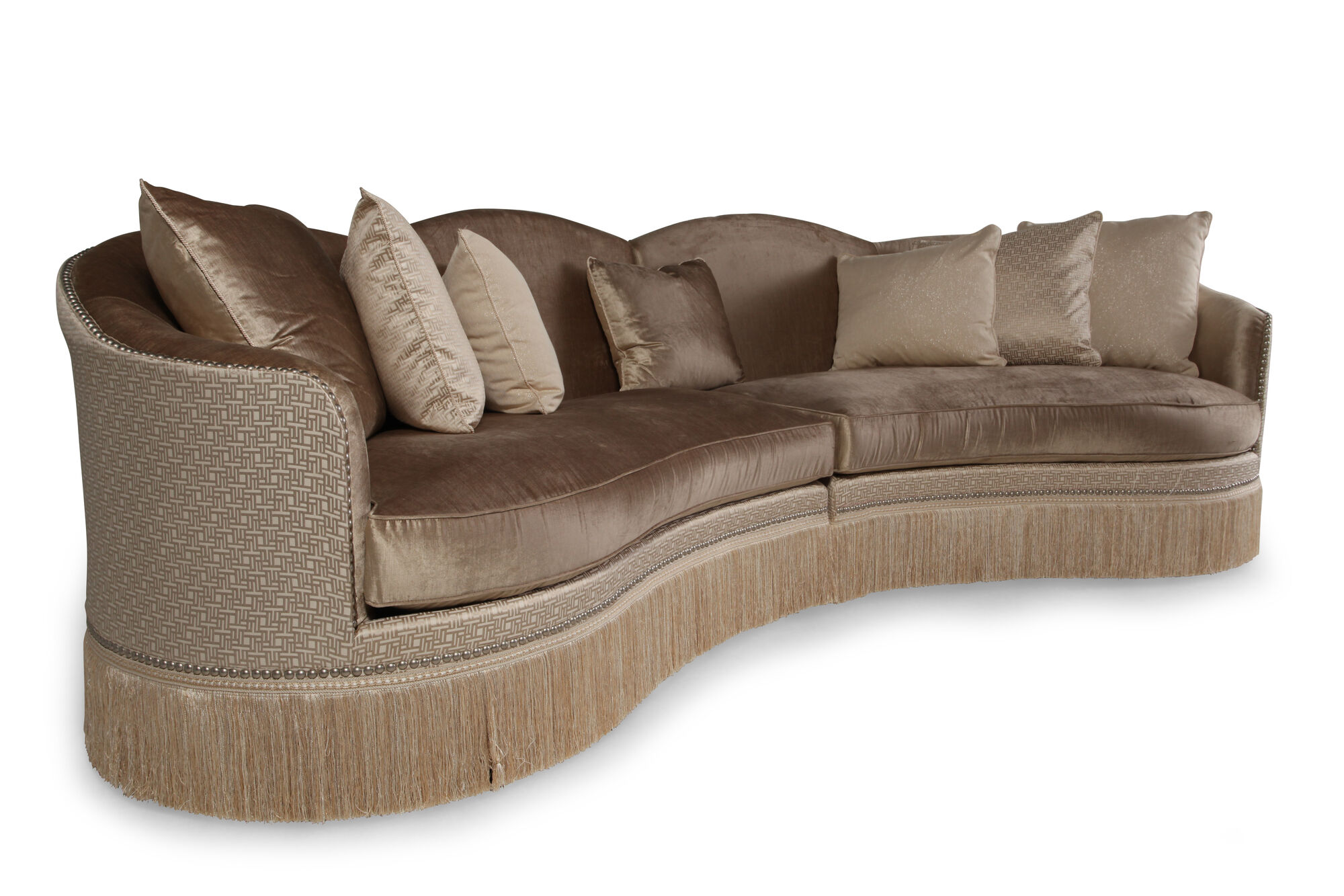 Two piece traditional 152 sectional in golden
