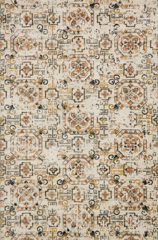 """Transitional 2'-7""""x8'-0"""" Rug in Ivory/Taupe"""