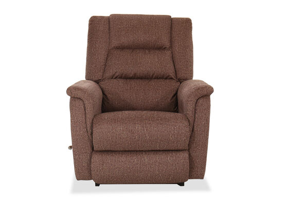 "Contemporary 35.5"" Rocker Recliner in Mocha"
