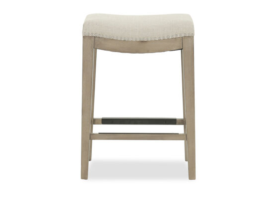 """Contemporary 26"""" Backless Bar Stool in Cream"""