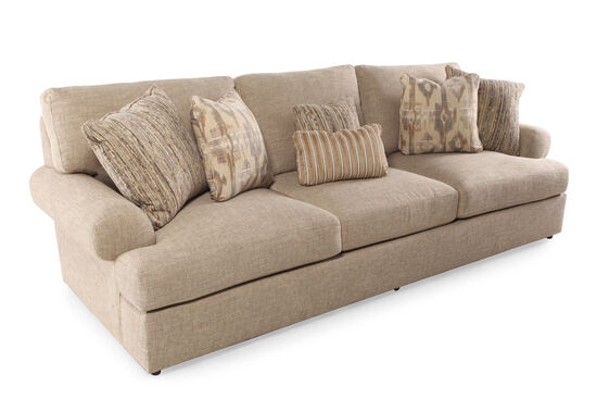 "Contemporary 117"" Sofa in Brown"