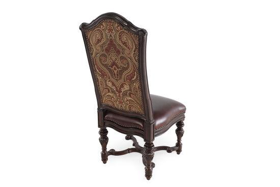 Pasiley Printed Back 49'' Side Chairin Dark Brown