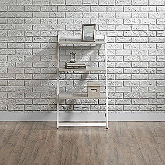 Contemporary Foldable Anywhere Shelf in Gray Ash