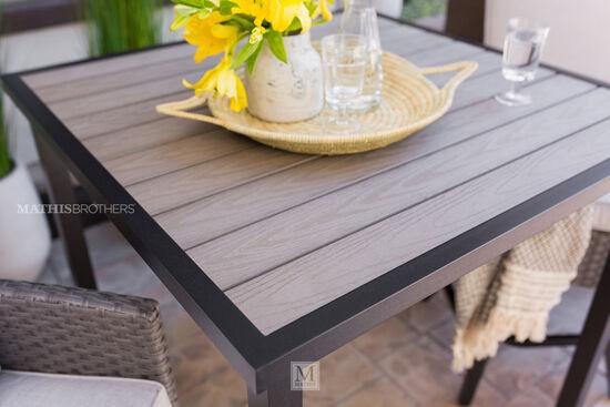 Aluminum Square Bar Table in Brown