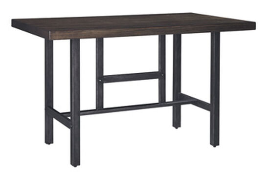 "Casual 60"" Square-Leg Counter Table in Medium Brown"