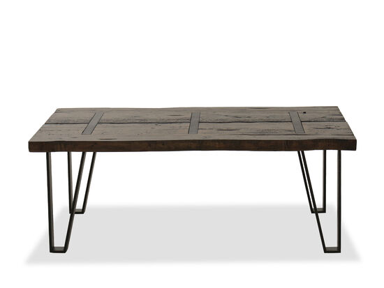 Rectangular Industrial Cocktail Table in Sawmill