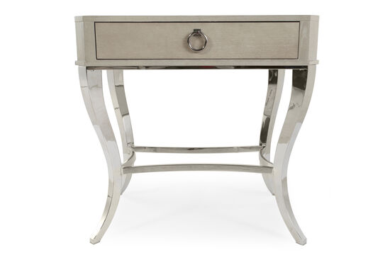 "30"" Metropolitan Arched Nightstand in Silver"