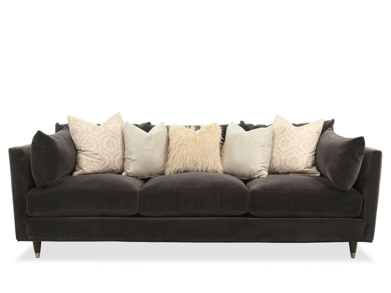 Casual 98 Quot Sofa In Brown Mathis Brothers Furniture