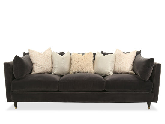 "Casual 98"" Sofa in Brown"