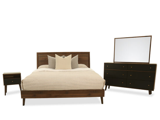 Four-Piece King Bedroom Set in Brown