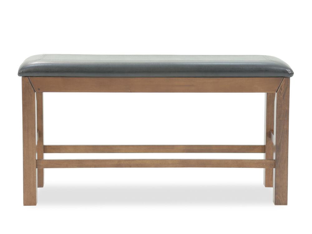 "Traditional 15"" Rectangular Bench in Dark Oak"