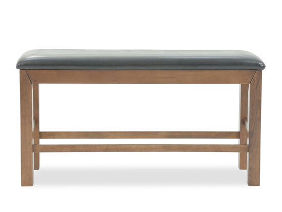 "Traditional 15"" Rectangular Bench in Dark Oak"
