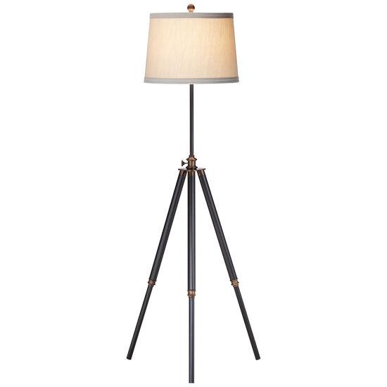 Tripod Floor Lamp in Clear Silver