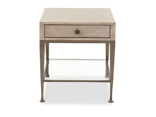 Traditional One-Drawer End Table in Sandstone