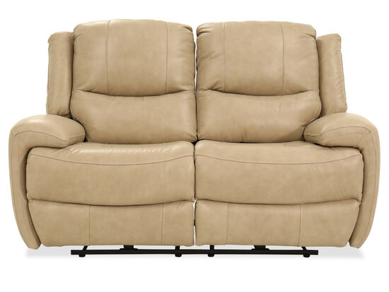 Power Reclining Casual Loveseat in Stone