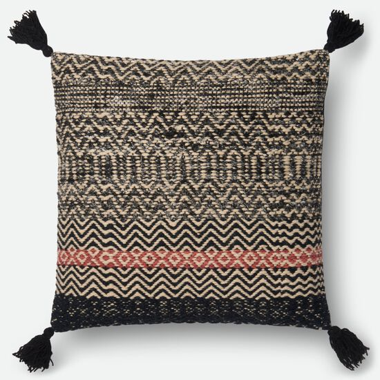 "22""x22"" Pillow Cover Only in Black"