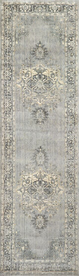 Transitional Power-Loomed 5 x 8 Rectangle Rug in Gray