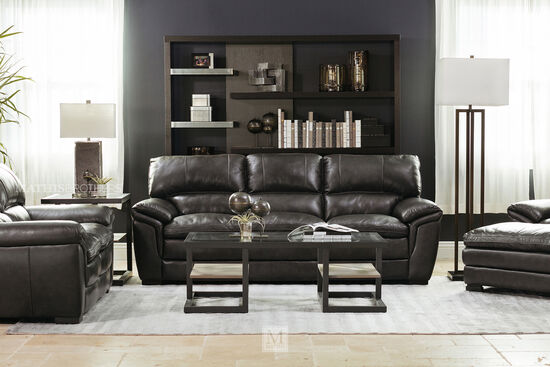leather couch living room farmhouse style leather sofa in sofas couches mathis brothers furniture stores