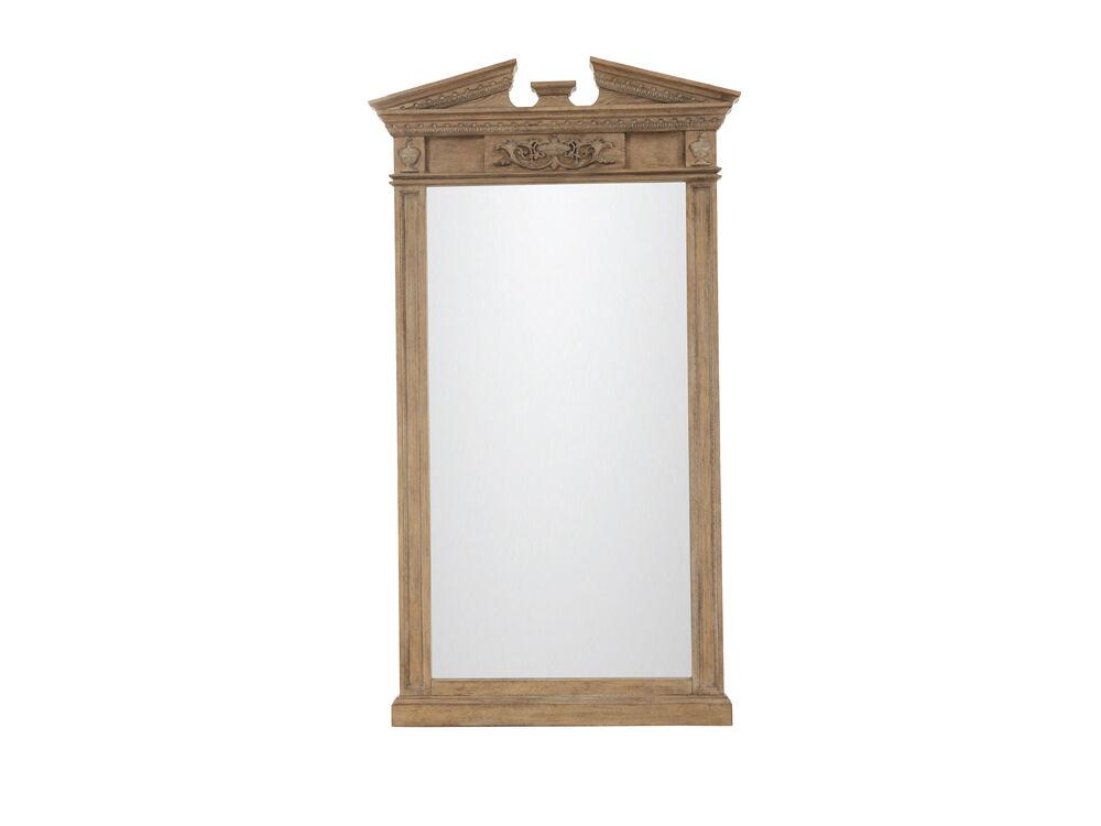 """90"""" Traditional Floor Standing Accent Mirror in Light Oak"""