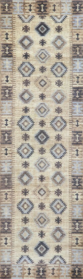 Transitional Power-Loomed 8 x 10 Rectangle Rug in Beige