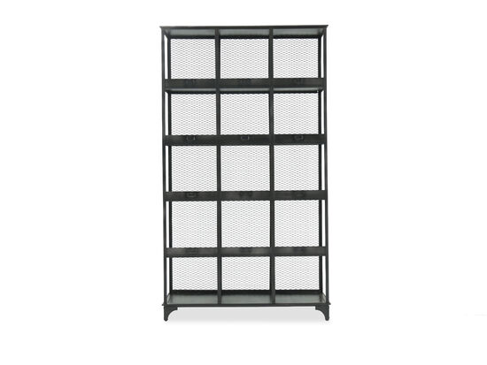 Four-Shelf Casual Rectangular Etagere in Black