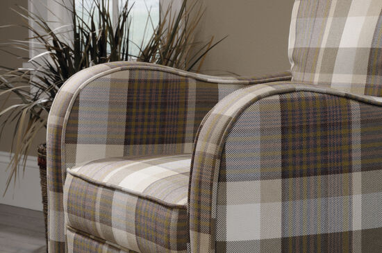 "Contemporary Plaid 29"" Accent Chair"