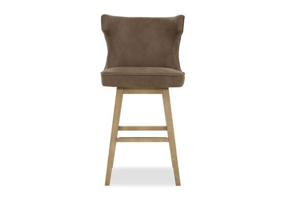 Wingback Barstool in Gray