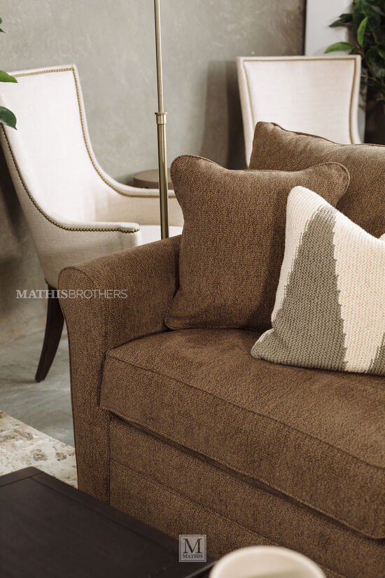 "Contemporary 42"" Host Arm Chair in Beige"