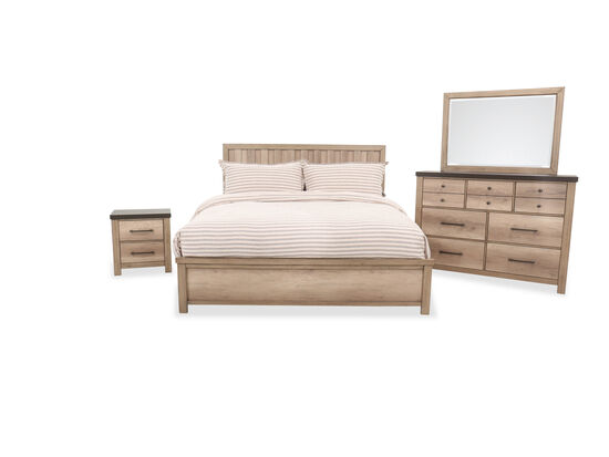 Four-Piece Casual Bed Suite in Brown