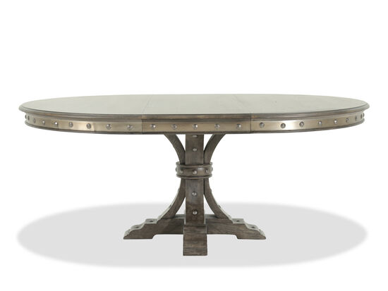 Traditional To NailheadAccented Oval Dining Table In Dark - Traditional oval dining table