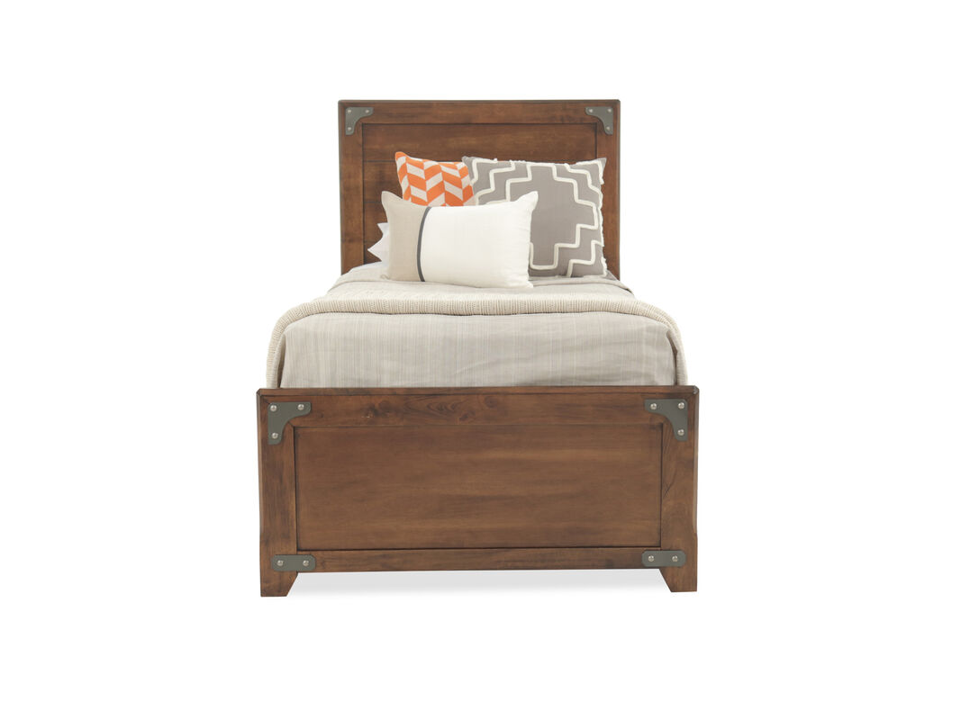 Casual Bracket-Accented Youth Panel Bed in Brown | Mathis Brothers ...
