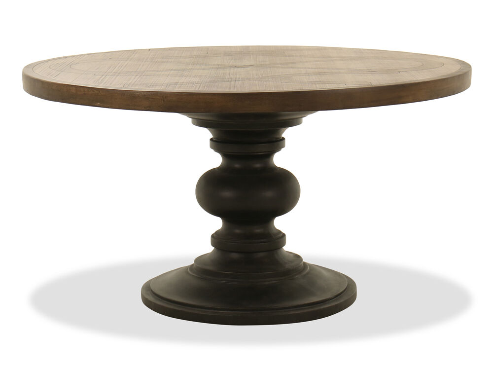 Contemporary Round Patio Dining Table in Charcoal