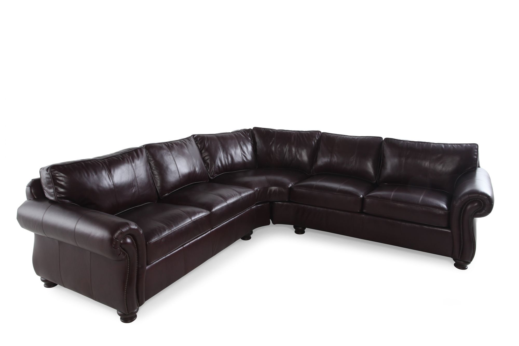 Bernhardt Van Gogh Two-Piece Sectional  sc 1 st  Mathis Brothers : bernhardt van gogh leather sectional - Sectionals, Sofas & Couches