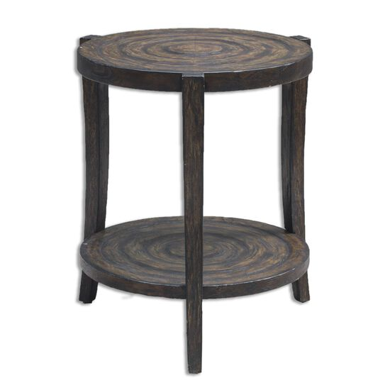 Rustic Accent Table in Smoked Java