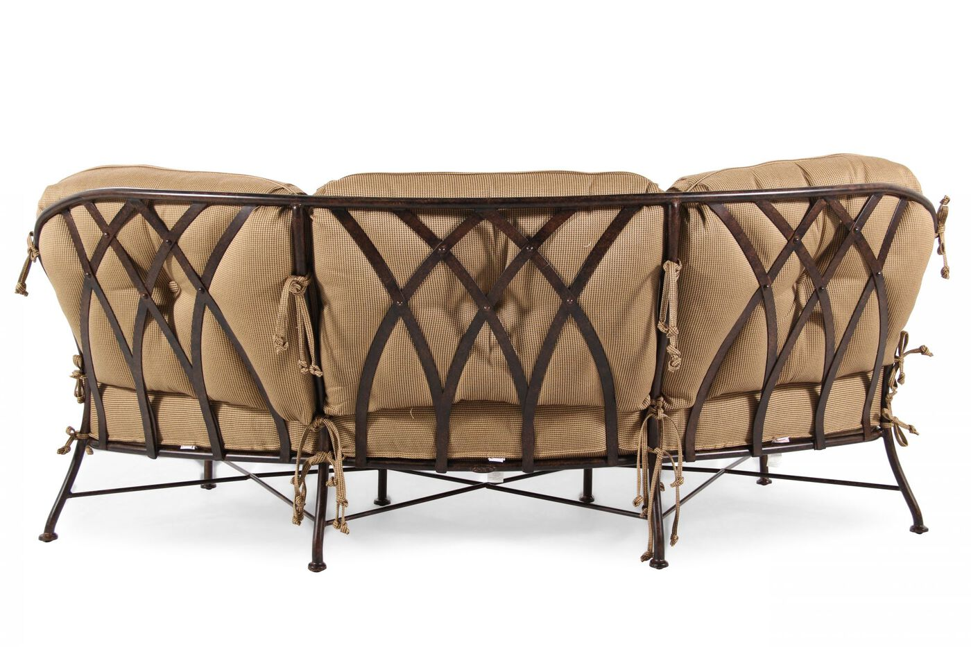 Greatest Aluminum Crescent Sofa in Tan | Mathis Brothers Furniture PV85