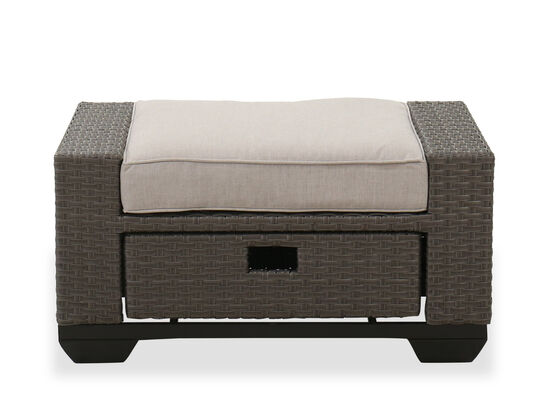 Casual One-Drawer Ottoman in Brown