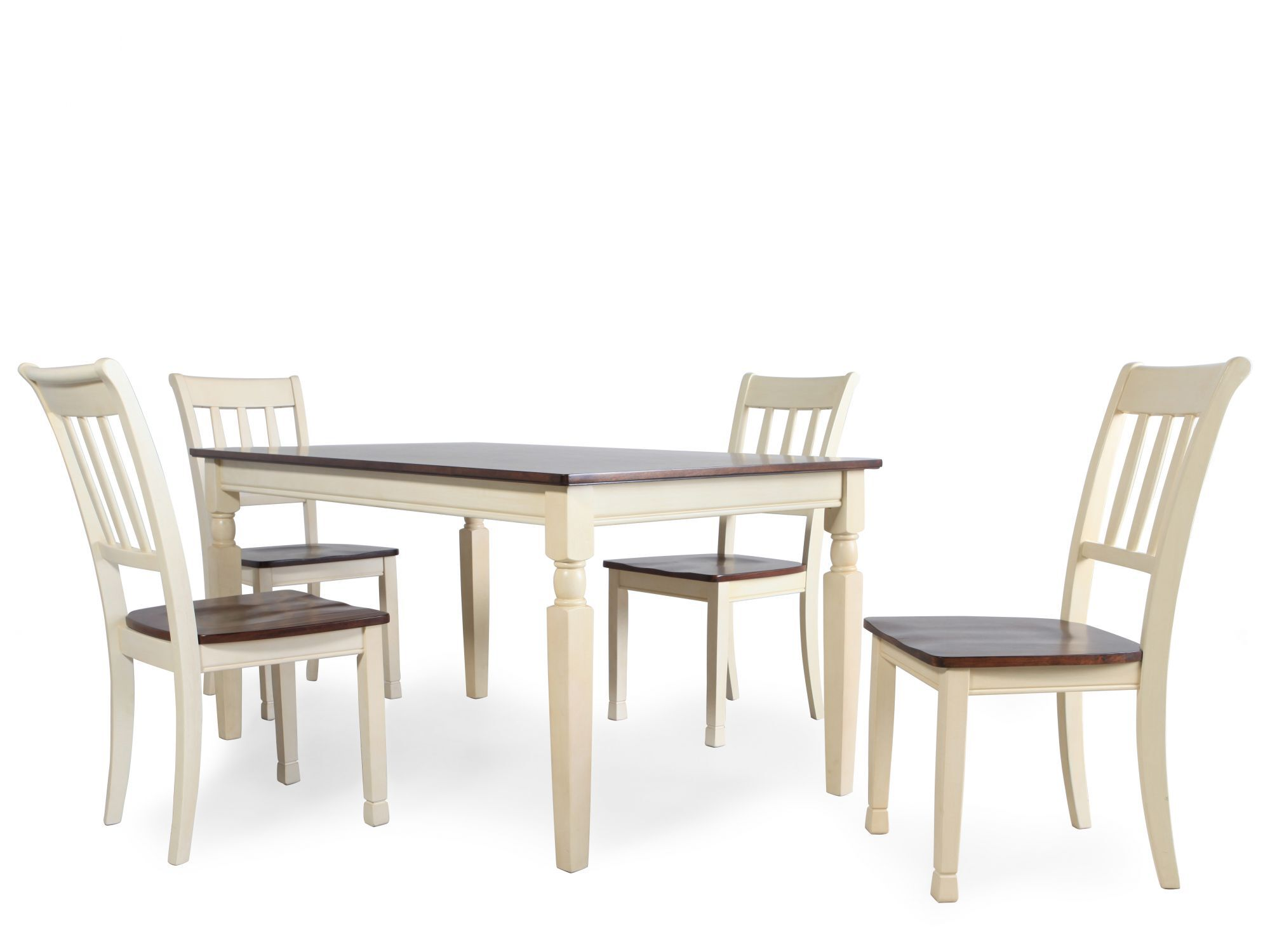 Five-Piece Cottage Dining Set in Buttermilk | Mathis ...