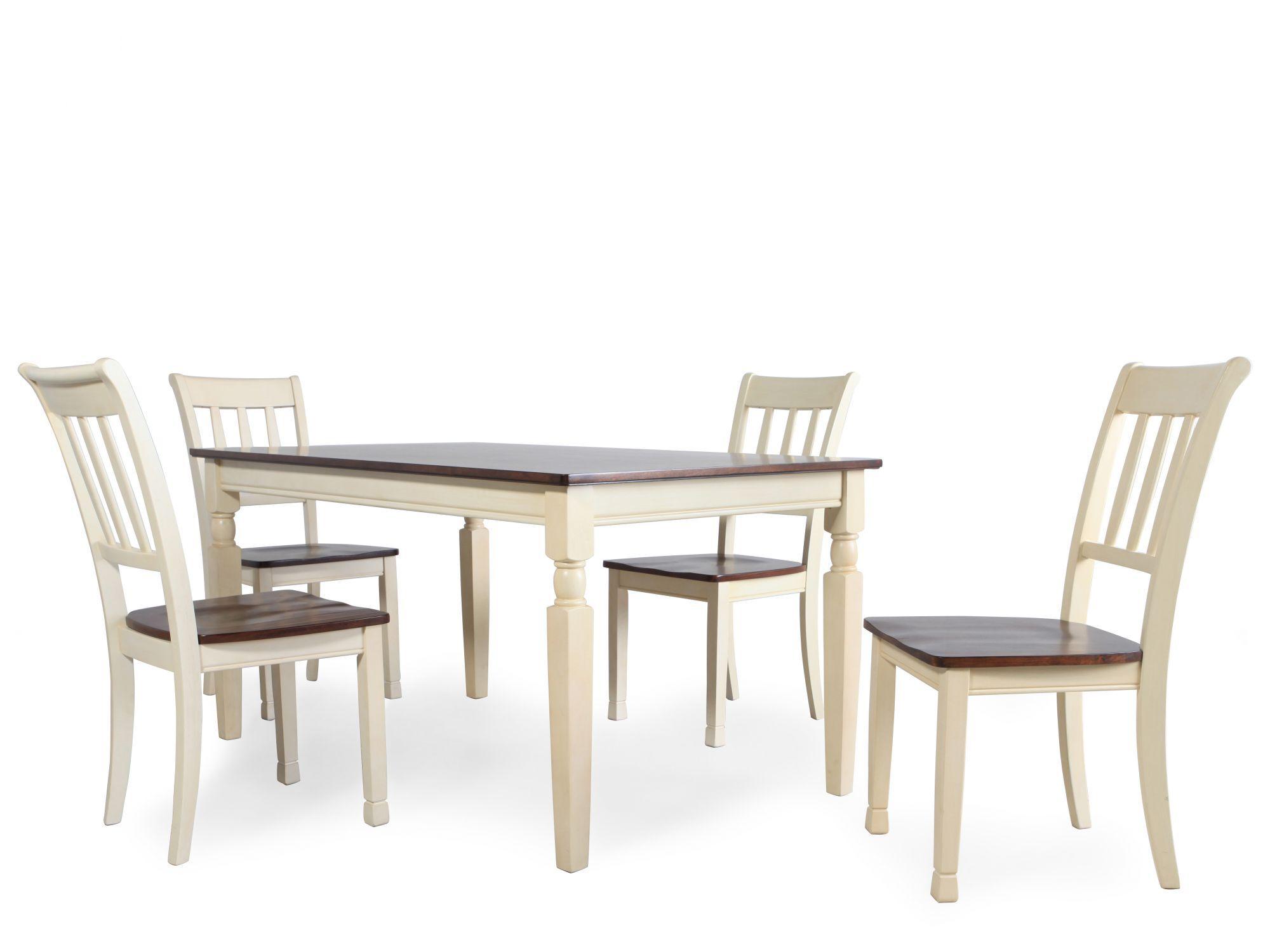 ... Five Piece Cottage Dining Set In Buttermilk. U2039 U203a