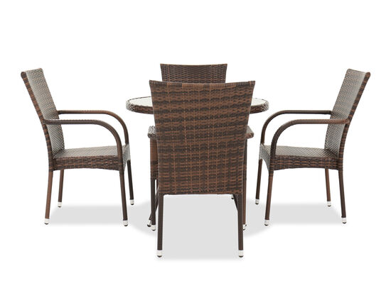Five-Piece Contemporary Patio Dining Set in Espresso