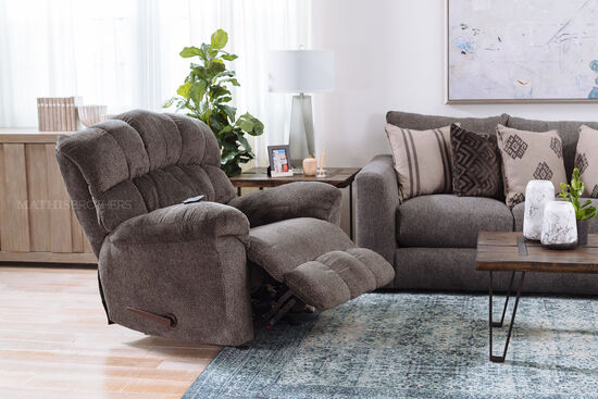 "Casual 43"" Rocker Recliner in Gray"