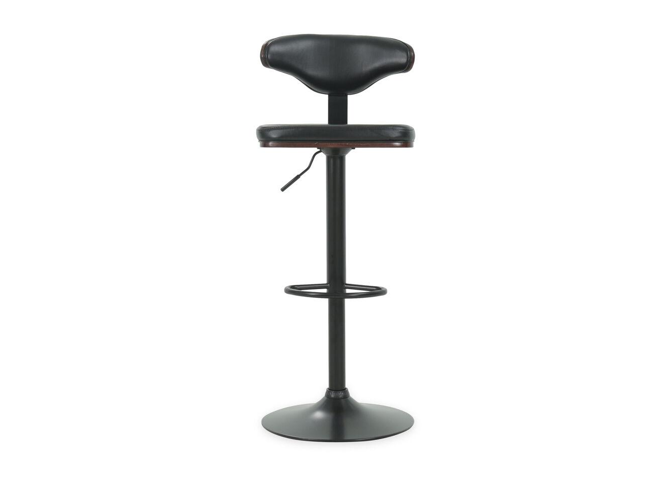 Contemporary 46 Quot Adjustable Swivel Bar Stool In Black