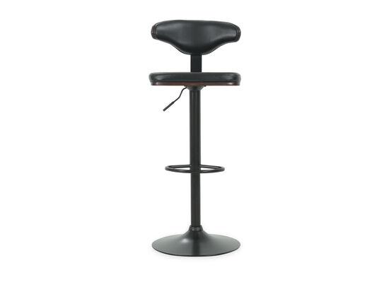 "Contemporary 46"" Adjustable Swivel Bar Stool in Black"