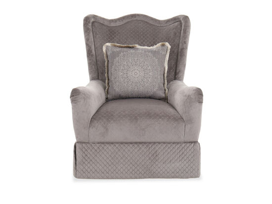 """Contemporary Diamond-Patterned 35"""" Accent Chair in Gray"""