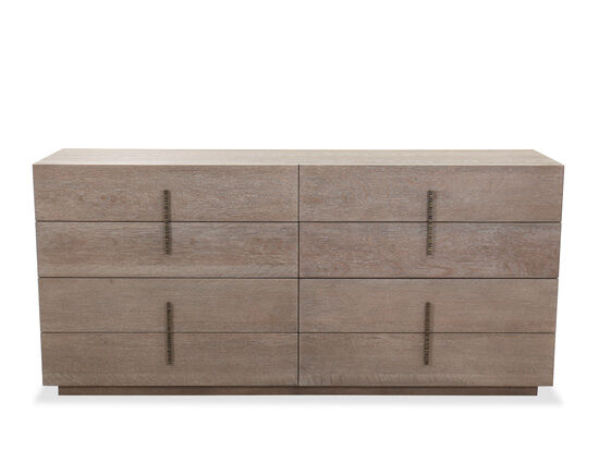 Transitional Eight-Drawer Dresser in Flaky Oak
