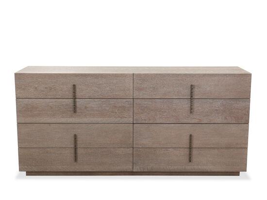 Transitional Eight Drawer Dresser In Flaky Oak